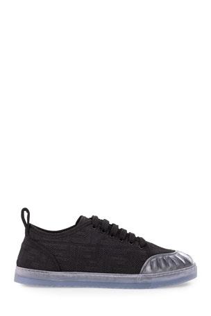Fendi Promenade FF Logo Low-Top Sneakers
