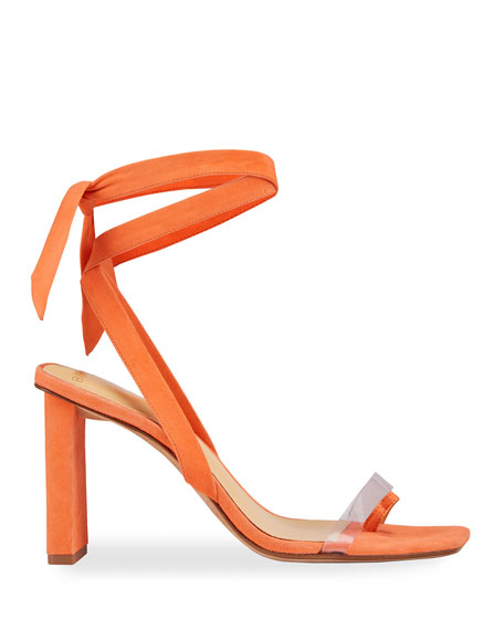 Image 3 of 5: Alexandre Birman Katie Suede Ankle-Wrap Sandals