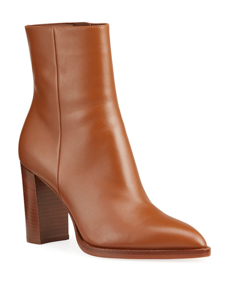 Image 1 of 5: Gianvito Rossi 85mm Point-Toe Double-Sole Booties