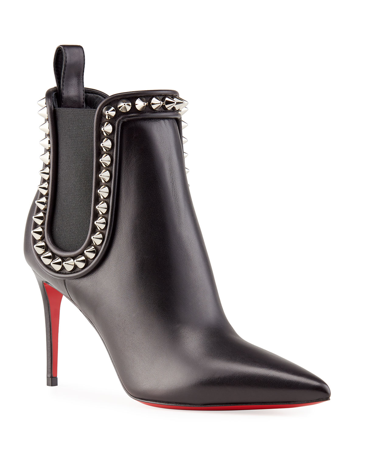 Christian Louboutin Crapaboot Spiked Napa Stiletto Booties