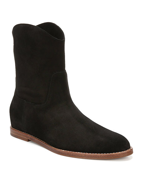 Image 1 of 4: Vince Sinclair Flat Suede Booties