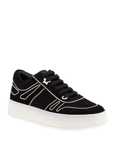 Jimmy Choo Hawaii Stud Low-Top Skater Sneakers