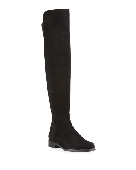 Image 1 of 3: 5050 Suede & Gabardine Over-the-Knee Boots