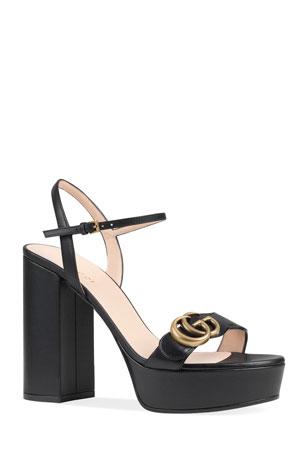 Gucci Marmont Lifford Platform Sandals