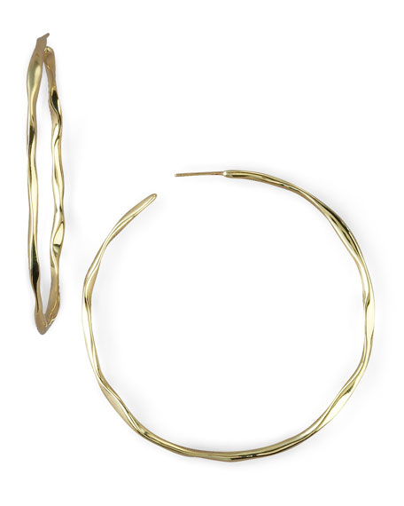 Wavy Gold Hoops, Large
