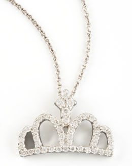 Roberto Coin Diamond Crown Necklace
