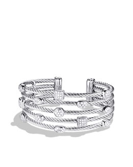 David Yurman Confetti Five-Row Cuff with Diamonds