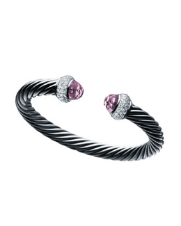 David Yurman Cable Classics Bracelet with Lavender Amethyst and Diamonds