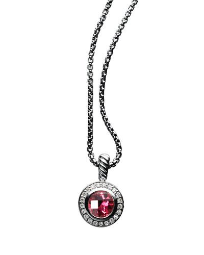 David Yurman Petite Cerise Pendant with Pyrope Garnet and Diamonds on Chain
