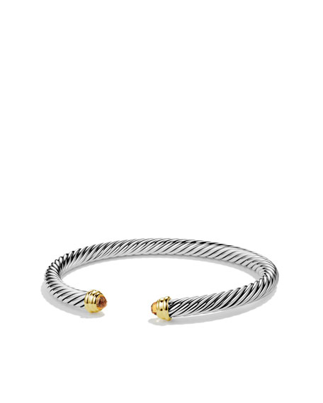 Cable Classics Bracelet with Citrine and Gold
