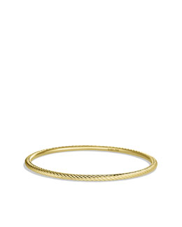 David Yurman Cable Classics Bangle in Gold