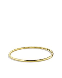David Yurman Cable Inside Bangle in Gold