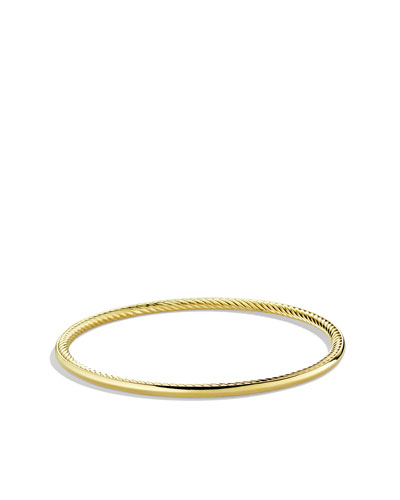 David Yurman Cable Inside Bangle in Gold