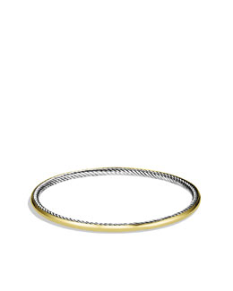 David Yurman Cable Inside Bangle with Gold