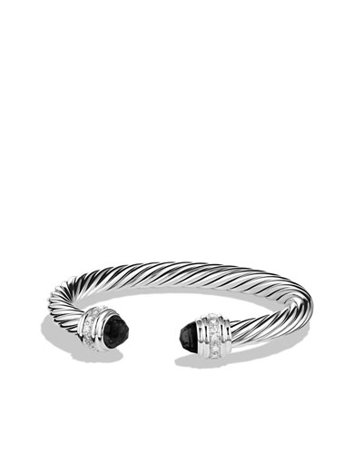 David Yurman Cable Classics Bracelet with Black Onyx and Diamonds