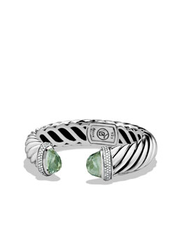 David Yurman Waverly Bracelet with Prasiolite and Diamonds