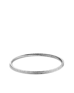 David Yurman Cable Classics Bangle with Diamonds