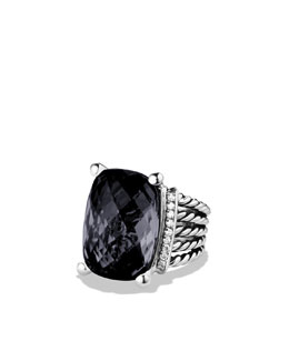 David Yurman Wheaton Ring with Black Onyx and Diamonds