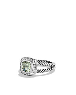 David Yurman Petite Albion Ring with Prasiolite and Diamonds