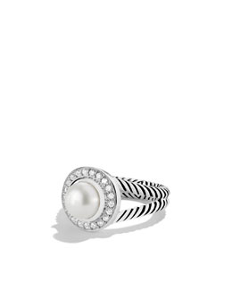 David Yurman Petite Cerise Ring with Pearl and Diamonds