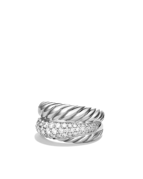 Crossover Large Ring with Diamonds