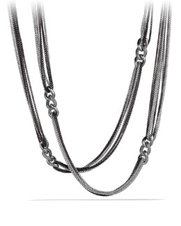 David Yurman Curb Link Eight-Row Black and White Necklace