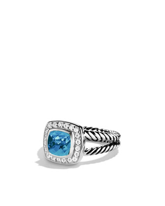 Sale alerts for David Yurman Petite Albion Ring with Blue Topaz and Diamonds - Covvet