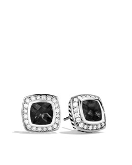 David Yurman Petite Albion Earrings with Black Onyx and Diamonds