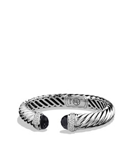 David Yurman Waverly Cable Bracelet with Black Onyx and Diamonds