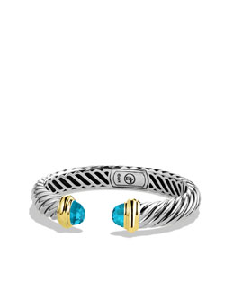 David Yurman Waverly Bracelet with Blue Topaz and Gold