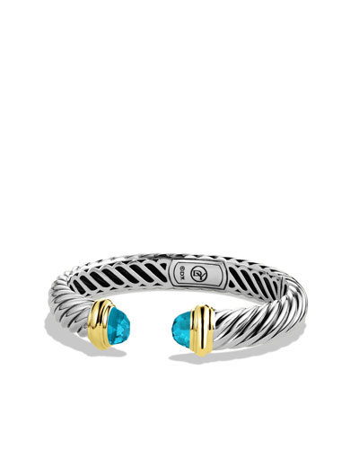 David Yurman Waverly Bracelet with Blue Topaz and Gold