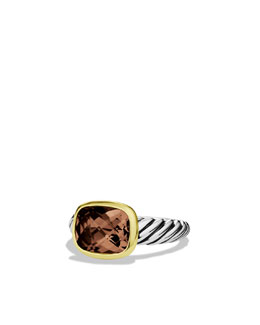 David Yurman Noblesse Ring with Smoky Quartz with Gold
