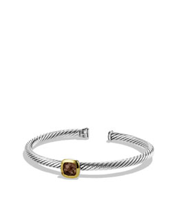 David Yurman Noblesse Bracelet with Smoky Quartz and Gold