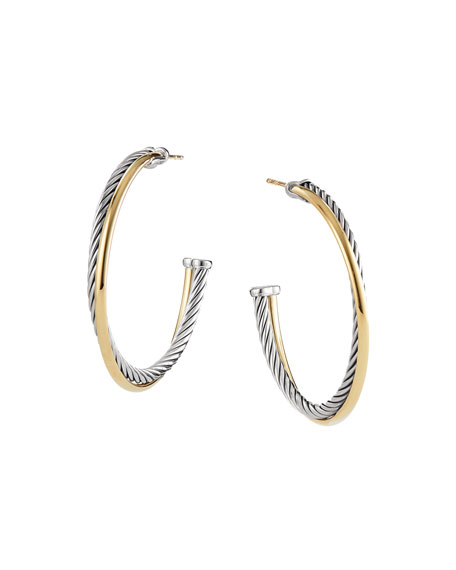 Crossover Extra Large Hoop Earrings With Gold