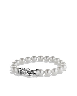 David Yurman Buckle Bracelet with Pearls and Diamonds