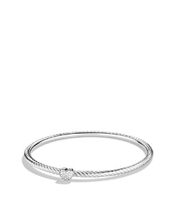 David Yurman Cable Heart Bangle with Diamonds