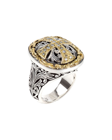 Konstantino Diamond Cross Ring