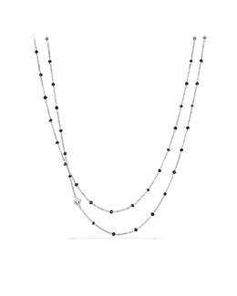 David Yurman Chain Necklace with Black Spinel Beads