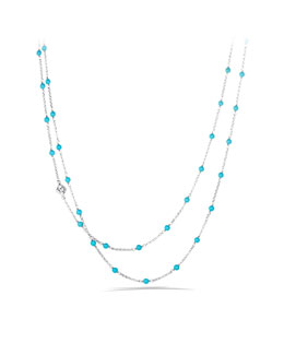 David Yurman Chain Necklace with Turquoise Beads