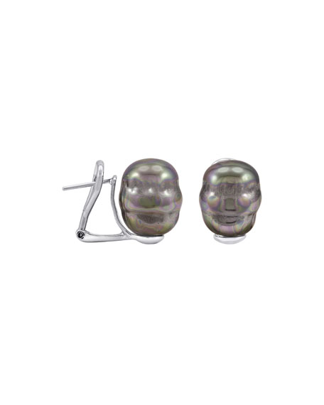 14mm Pearl Earrings, Pierced