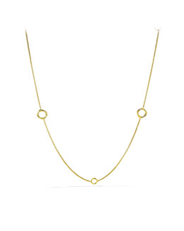 David Yurman Infinity Station Necklace in Gold