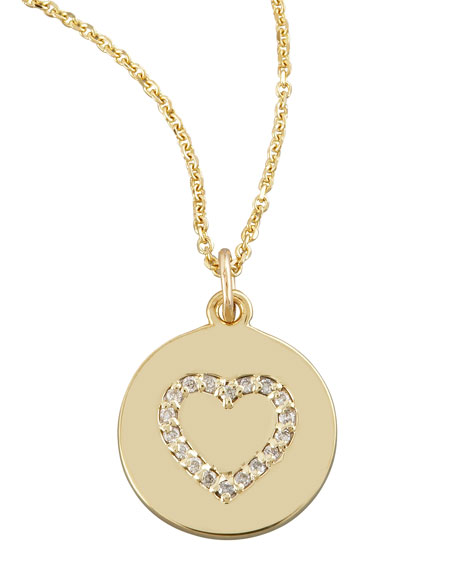Heart Disc Necklace