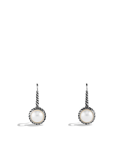 David Yurman Cable Pearl Drop Earrings