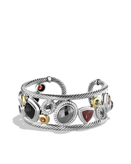 David Yurman Mosaic Cuff with Hematine, Diamonds, and Gold