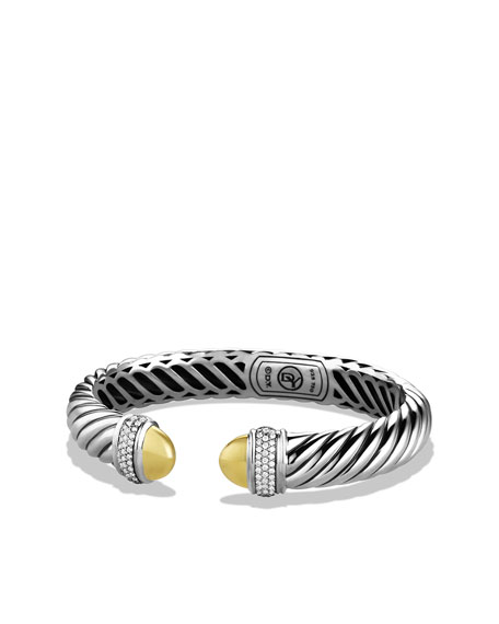 David Yurman Waverly Bracelet with Gold Domes and