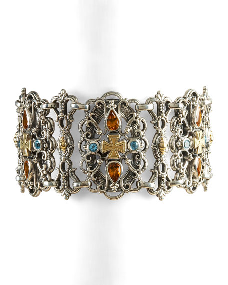 Zoe Citrine Teardrop Bracelet