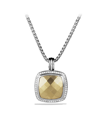 David Yurman Albion Pendant with Gold Dome and Diamonds