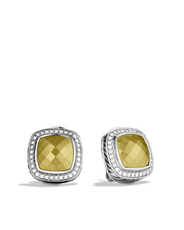 David Yurman Albion Earrings with Gold Domes and Diamonds