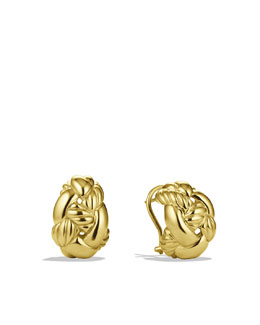 David Yurman Woven Cable Earrings in Gold