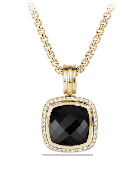 Albion Pendant with Black Onyx and Diamonds in Gold